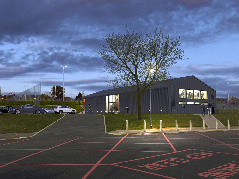 Llanishen RFC Clubhouse CGI